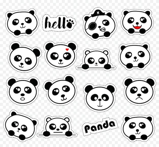 Cute panda stikers