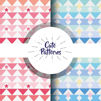 Cute patern abstract geometric background design ilustração vetorial