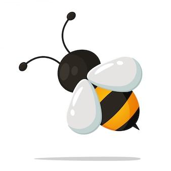 Cute, pequeno, abelha, caricatura