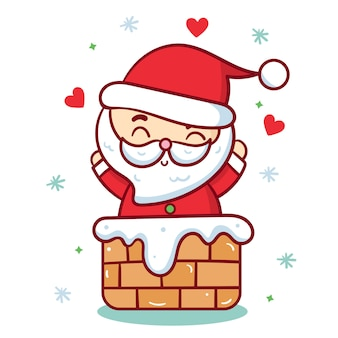 Cute santa vector christmas character