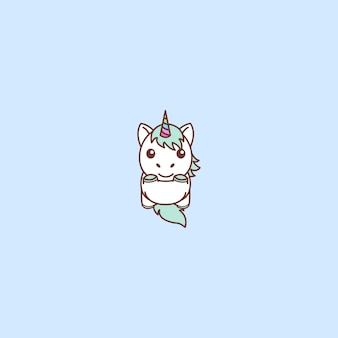 Cute unicorn jumping
