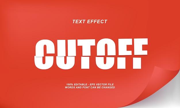 Cutoff text efect