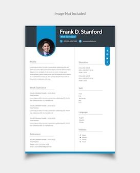 Cv currículo currículo modelo de design vitae para desenvolvedor web