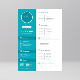 Cv design com o ícone de linha