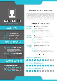 Cv perfil pessoal. currículo profissional