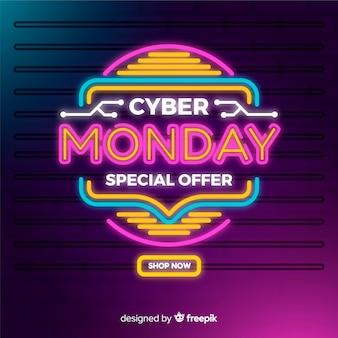 Cyber colorido segunda-feira de néon
