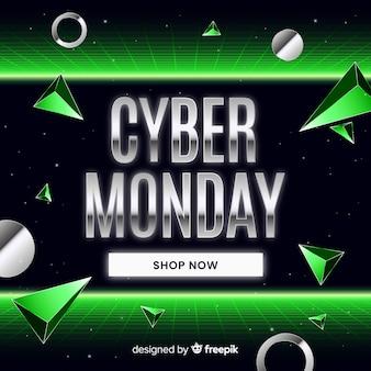 Cyber futurista retrô segunda-feira