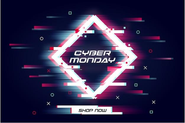 Cyber glitch moderno segunda-feira venda