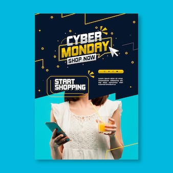 Cyber monday flyer vertical