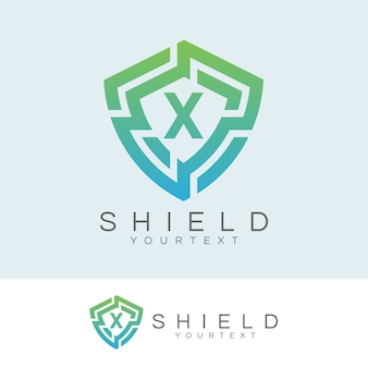 Cyber ​​security inicial letter x logo design