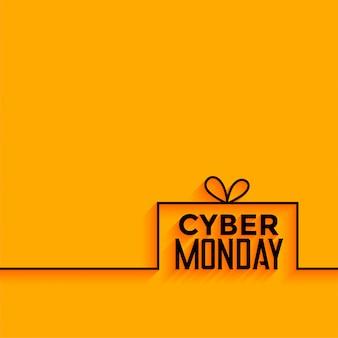 Cyber segunda-feira amarelo estilo minimalista de fundo