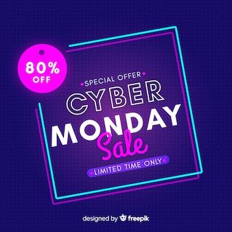 Cyber segunda-feira conceito apenas tempo limitado
