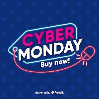 Cyber segunda-feira conceito fazendo você comprar agora