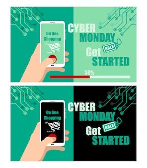 Cyber segunda-feira conceito