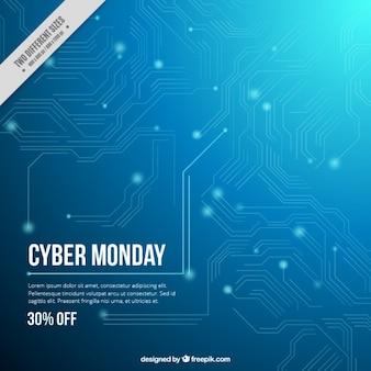Cyber segunda-feira do circuito abstrato
