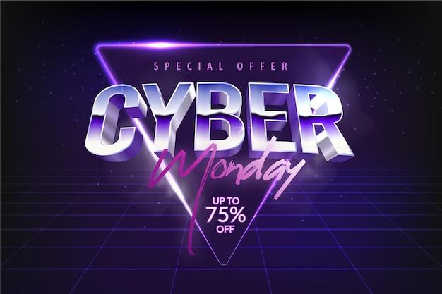Cyber segunda-feira em diamante violeta