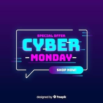 Cyber segunda-feira oferta especial conceito