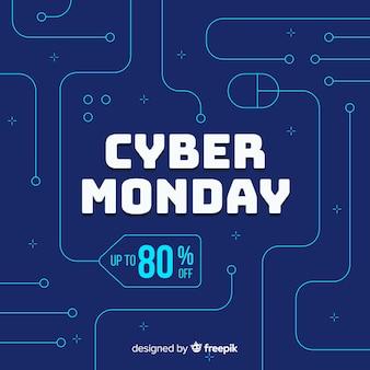 Cyber segunda-feira plana com desconto