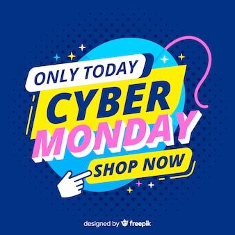 Cyber segunda-feira plana compras online