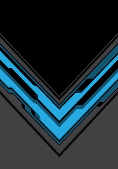 Cyber seta azul cinza com fundo preto tecnologia.