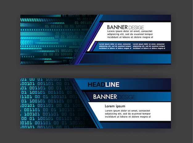 Cyber text box template banner infografia