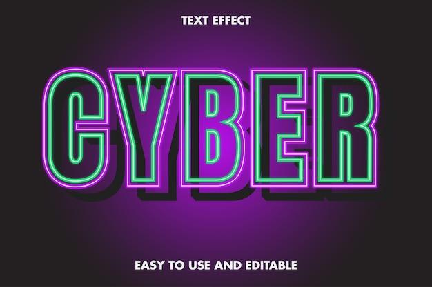 Cyber text effect fácil de usar e editável