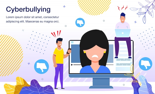 Cyberbullying na rede social plana