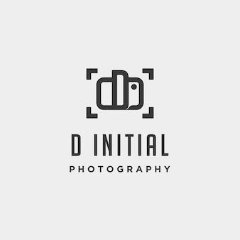 D elemento de ícone de design de vetor de modelo de logotipo de fotografia inicial