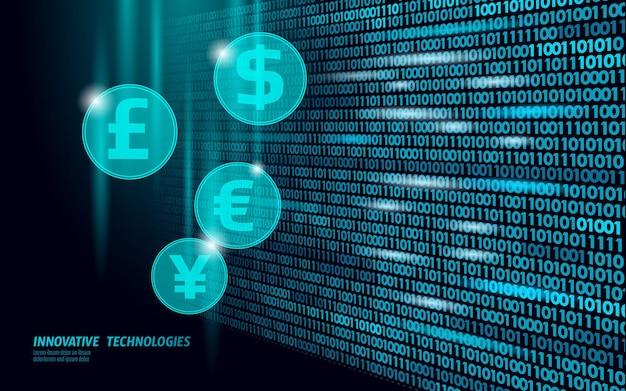 D número fluxo de dados on-line mercado financiamento negócio comércio eletrônico sucesso de comércio na web rede da web baixo poli banner poligonal ilustração vetorial de conexão de internet internacional