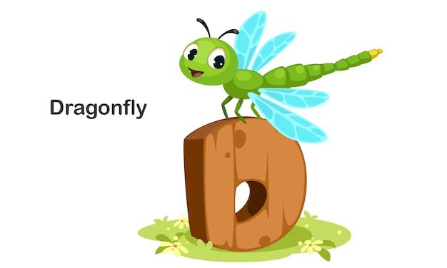 D para libélula