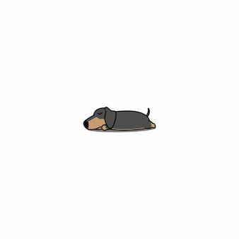 Dachshund dog sleeping icon