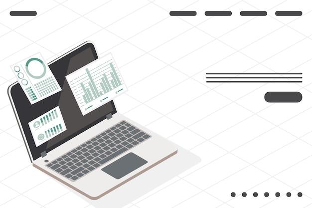 Dados analíticos em laptop
