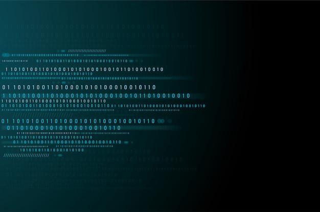 Dados binários e fundo de código binário de streaming