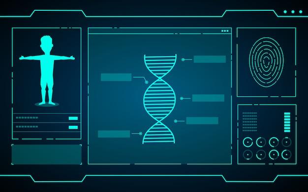 Dados da ciência no abstrato futurista de tecnologia de computador
