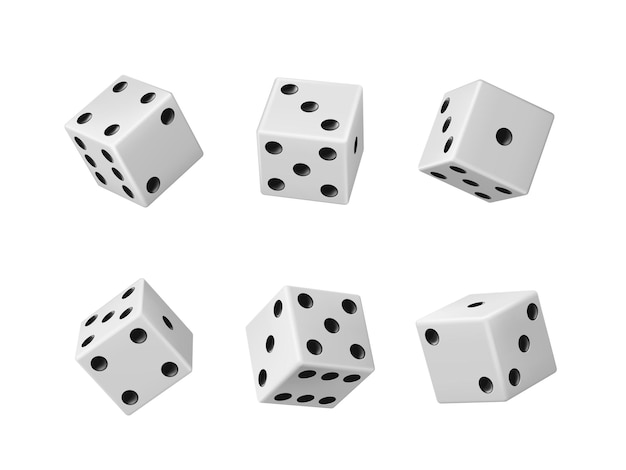 Dados de jogo de azar de dados realistas de cassino