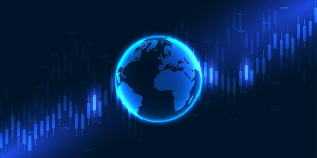 Dados do mercado de ações. abstrato com finanças de gráfico gráfico. bolsa e bolsa.
