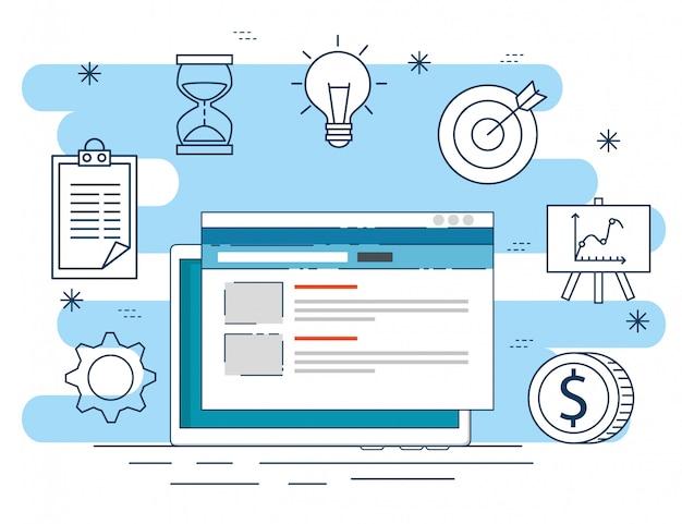 Dados do site para a estratégia da planta de negócios