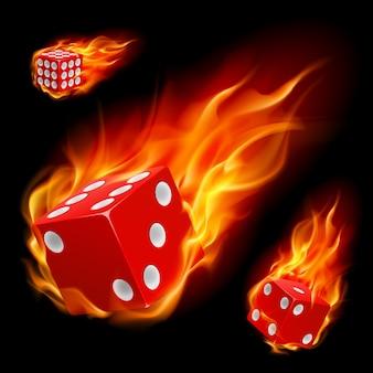 Dados em chamas