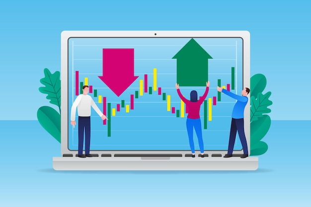 Dados ilustrados da bolsa de valores