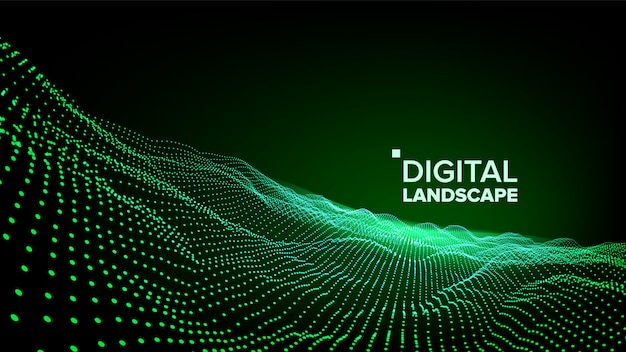 Dados verde paisagem