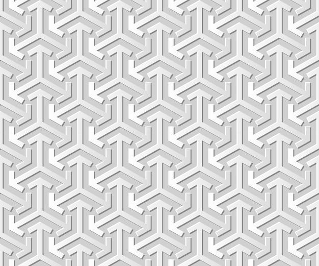 Damasco 3d sem costura papel arte geometria seta triângulo cruz