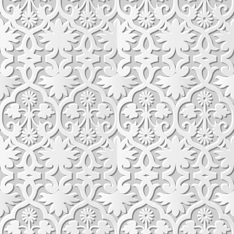 Damasco arte em papel 3d sem costura cross spiral flower