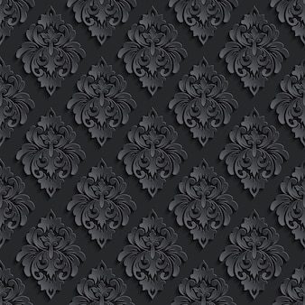 Damasco escuro sem costura de fundo. textura de luxo elegante para papéis de parede