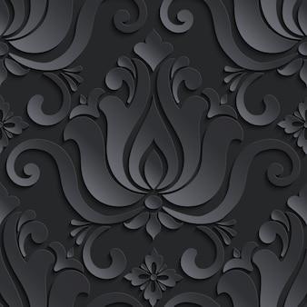 Damasco estilo ornamental ilustração