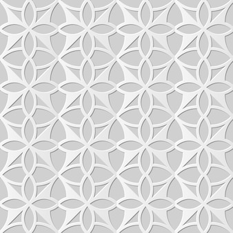 Damasco seamless pattern 3d papel arte curva cruz geometria