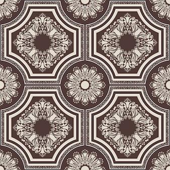 Damasco sem costura de fundo. enfeite de damasco antiquado de luxo clássico