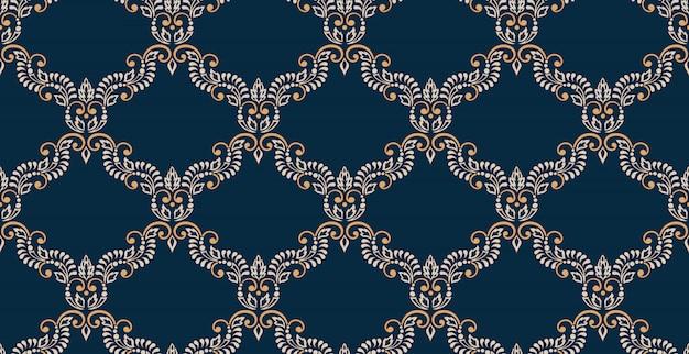 Damasco sem costura em relevo de fundo. ornamento de damasco antigo luxo clássico, textura sem costura vitoriana real. vintage requintado floral modelo barroco.