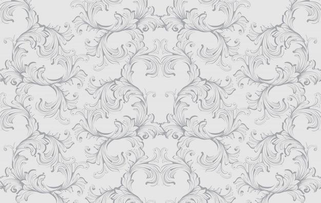 Damask baroque pattern background. ornament decor para convite, casamento, cartões de saudação. ilustrações vetoriais
