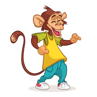 Dança de chimpanzé dos desenhos animados