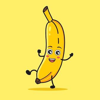 Dança de desenhos animados de banana